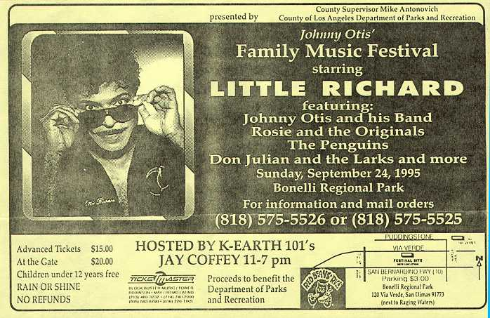 Johnny Otis' Family Music Festival
